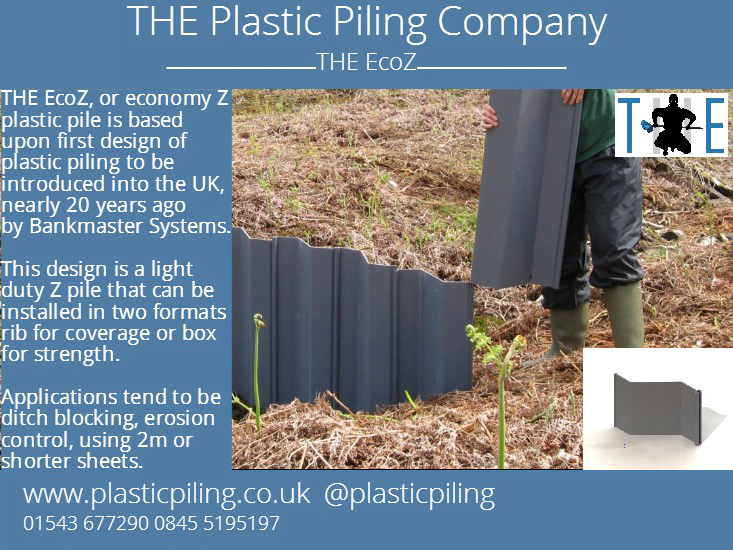 THE Eco-Z Plastic Sheet Piling - Plastic Piling Company